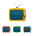 retro tv set Flat Design vector image