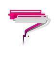 roller sign detachable paper vector image