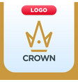 royal crown logo template with letter a and m vector image vector image