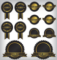 Sale badges and labels vector image vector image