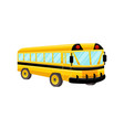 school bus template isolated design vector image vector image