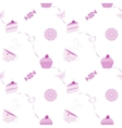 seamless dessert pattern vector image vector image