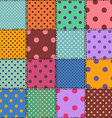 Seamless pattern of polka dot patchworks vector image vector image
