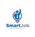 search smart job logo designs vector image vector image