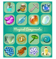set of magical items sketch for holiday stickers vector image vector image