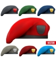 Set of Military colorful Berets Army Special vector image