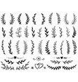 set tree branches vector image vector image