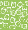 silhouettes of clock icon seamless pattern vector image vector image