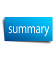 summary blue paper sign on white background vector image vector image
