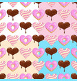 sweet hearts seamless pattern vector image