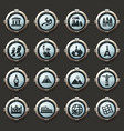 travel and wonders icons set vector image