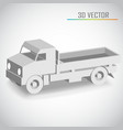 truck 3d vector image