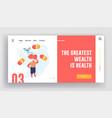 vegetarian diet and healthy food website landing vector image vector image