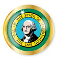 washington flag button vector image vector image