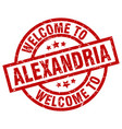 welcome to alexandria red stamp vector image vector image