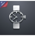 Wrist Watch icon symbol 3D style Trendy modern vector image