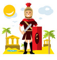 spartan warrior flat style colorful vector image