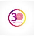 30 anniversary circle logo gi vector image