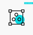 abstract design online turquoise highlight circle vector image vector image