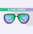 aviator unisex sunglasses trendy 3d shades vector image