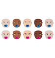 baby face of different races with dummy vector image vector image