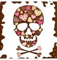 Background with skull  sweetmeat and chocolate vector | Price: 1 Credit (USD $1)