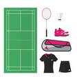 badminton things 002 vector image