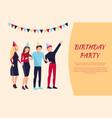 birthday party celebration vector image