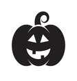 Black icon of Halloween pumpkin vector image vector image