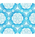Blue abstract snowflakes seamless pattern vector | Price: 1 Credit (USD $1)