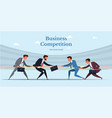 business competition web banner template vector image vector image
