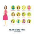 cartoon menstrual period elements card poster vector image vector image