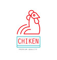chicken premium quality logo badge for farm vector image