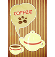 coffee cup and coffee pot vector image vector image