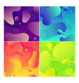 color abstract fluid social media background set vector image vector image