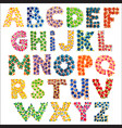 colorful funny dotted alphabet vector image vector image