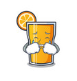 crying orange juice mascot cartoon vector image vector image