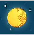 Decorative moon shape ornament vector image vector image