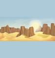 desert landscape with rocks vector image