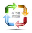 diagram of risk managment vector image vector image