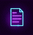 document neon sign vector image