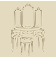 Dressing console vector image vector image