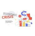economic crisis - colorful flat design style web vector image vector image