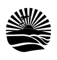 emblem style tropical island icon image vector image vector image