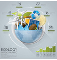 Global Ecology And Energy Infographic With Round vector image vector image