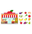 grocery store and fruits and vegetables vector image