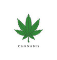 hand drawn cannabis logo designs vector image vector image