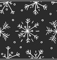 hand drawn seamless pattern black and white vector image vector image