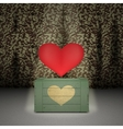 Heart on military background vector image vector image