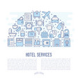 hotel services concept in half circle vector image vector image